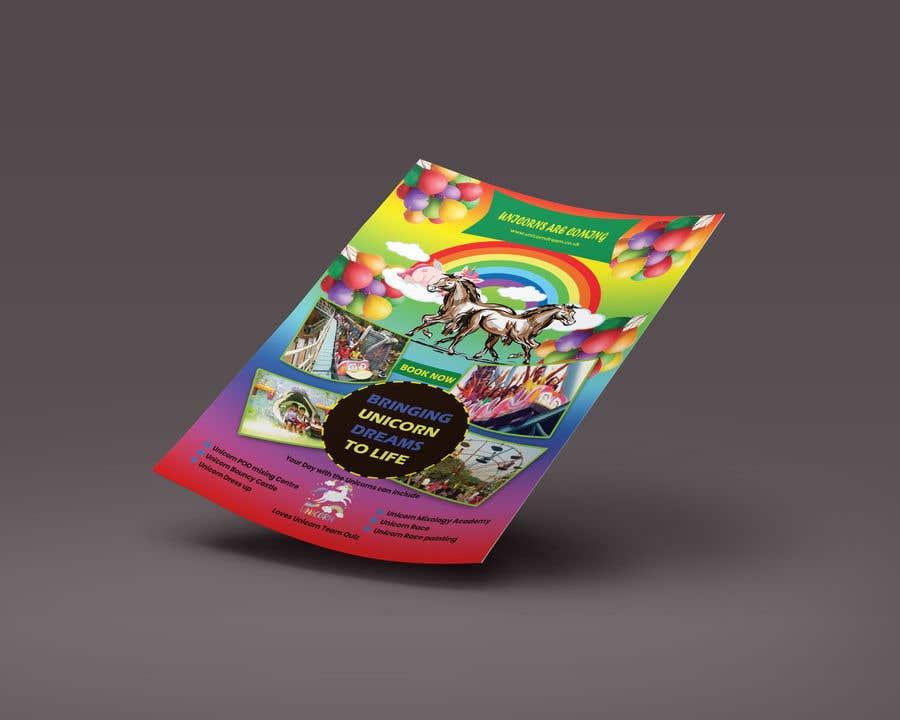 Proposition n°128 du concours Flyer Design Kinds Unicorn Event