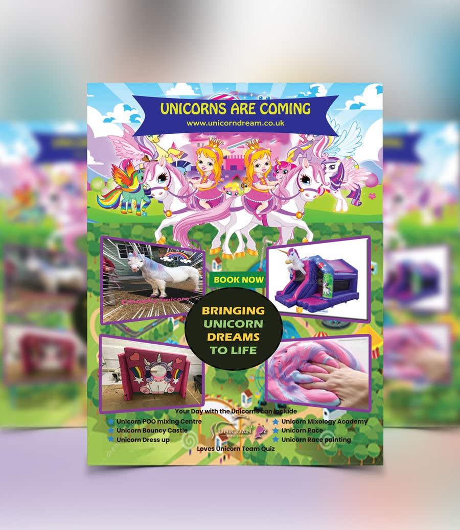 Proposition n°168 du concours Flyer Design Kinds Unicorn Event