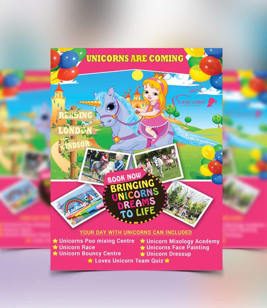 Proposition n°245 du concours Flyer Design Kinds Unicorn Event