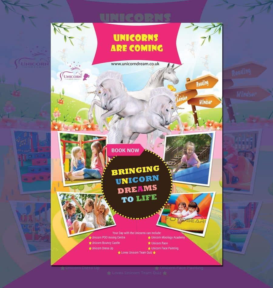 Proposition n°252 du concours Flyer Design Kinds Unicorn Event