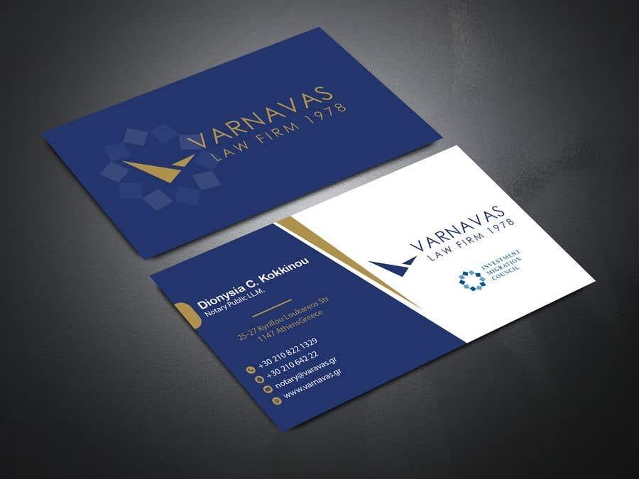 Penyertaan Peraduan #198 untuk Design new business cards for law firm