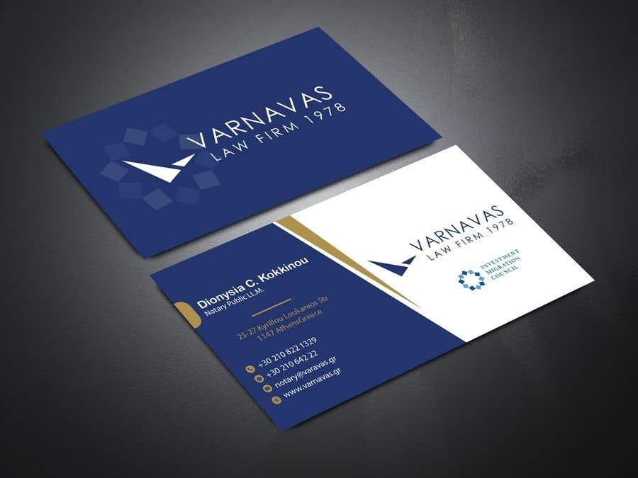 Penyertaan Peraduan #205 untuk Design new business cards for law firm