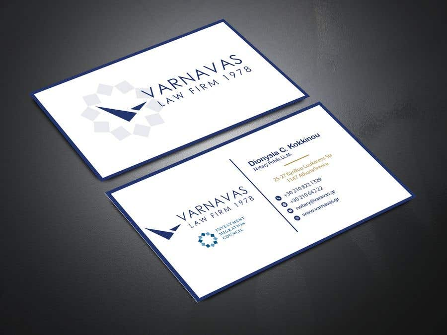 Penyertaan Peraduan #208 untuk Design new business cards for law firm