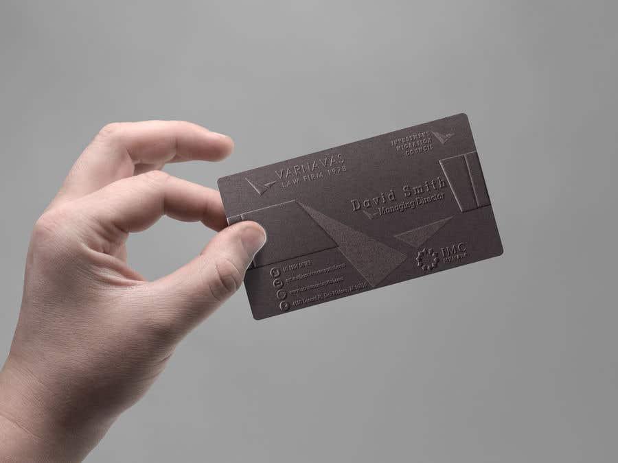 Penyertaan Peraduan #719 untuk Design new business cards for law firm