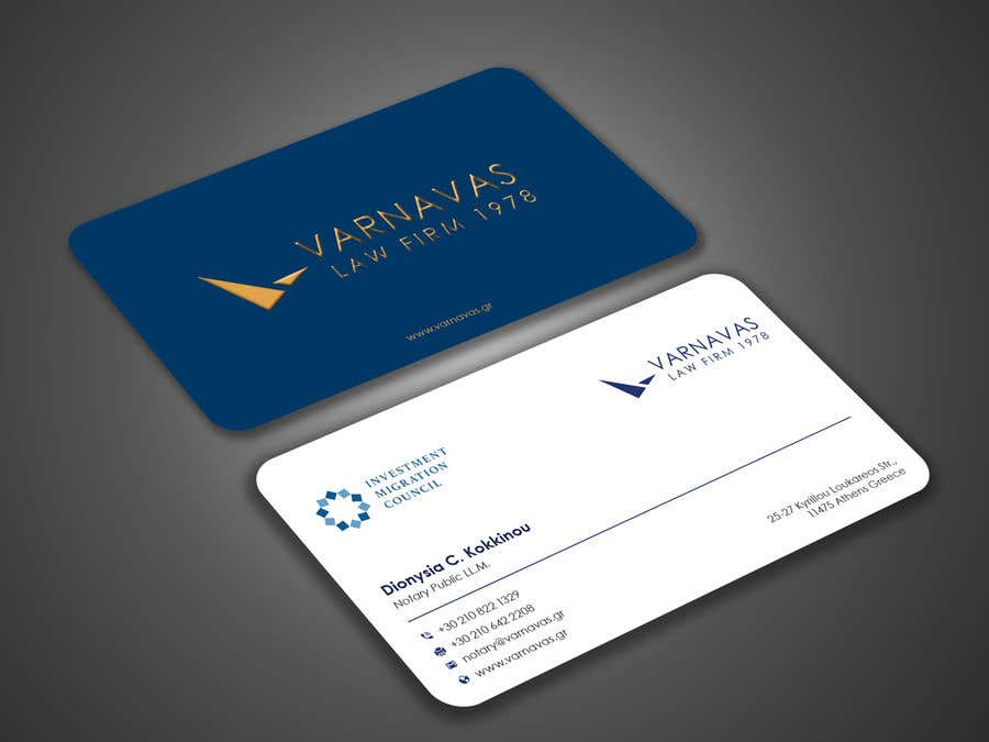 Penyertaan Peraduan #822 untuk Design new business cards for law firm