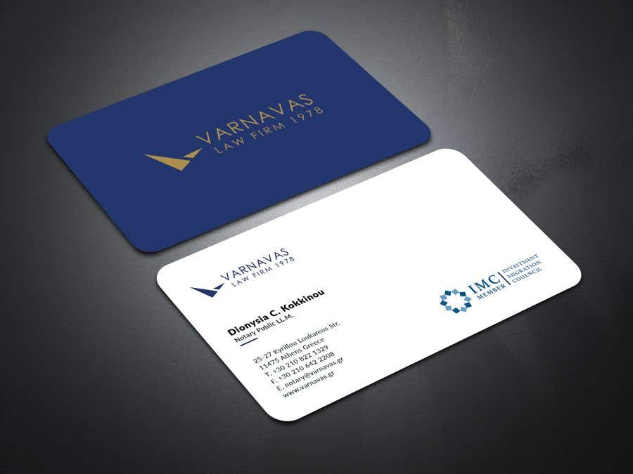 Penyertaan Peraduan #579 untuk Design new business cards for law firm