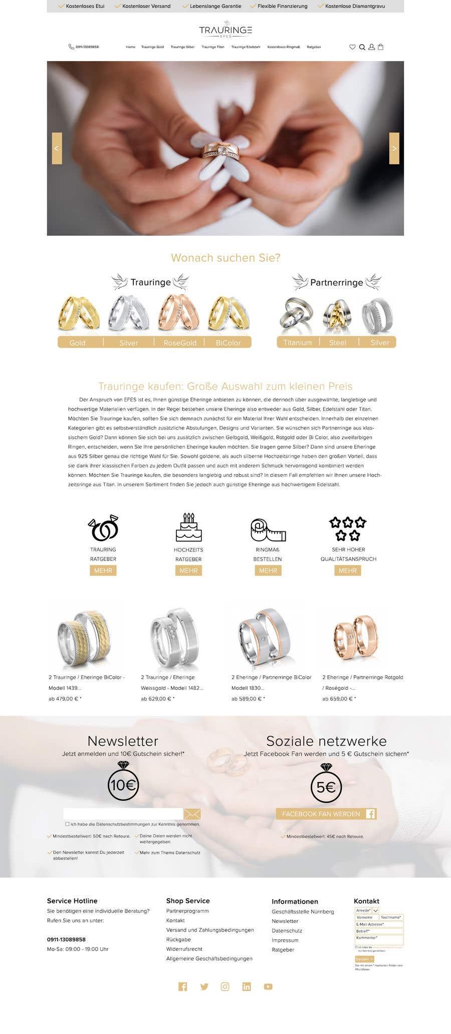 Konkurrenceindlæg #22 for Design Landingpage for Wedding Onlineshop
