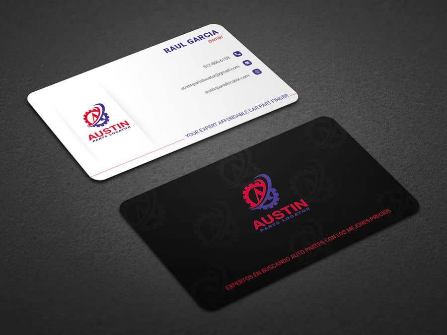 Konkurrenceindlæg #129 for Design Business Cards For Car Parts Company