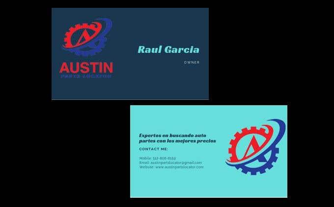Konkurrenceindlæg #410 for Design Business Cards For Car Parts Company