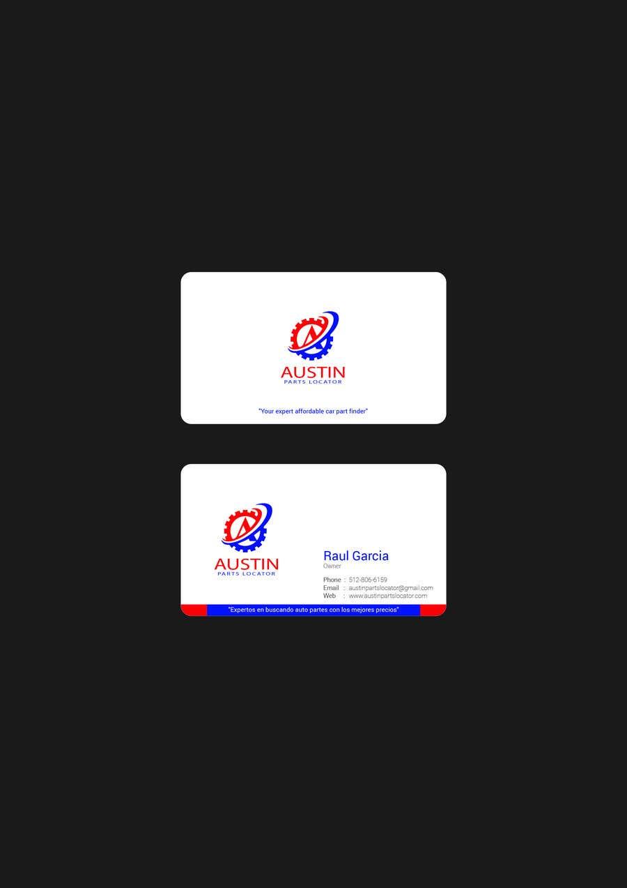 Proposition n°179 du concours Design Business Cards For Car Parts Company