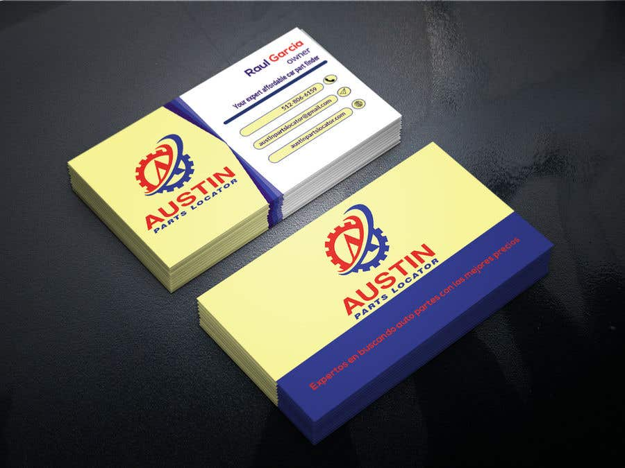 Proposition n°318 du concours Design Business Cards For Car Parts Company