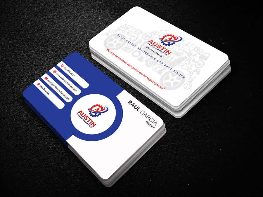 Proposition n°292 du concours Design Business Cards For Car Parts Company