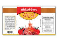 Graphic Design Kilpailutyö #2 kilpailuun wicked good salsa label (has to be editable)
