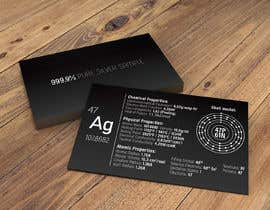 nº 3 pour Business Card with the scientic value of silver par nkrustanov