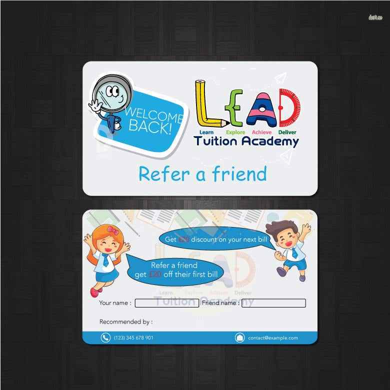 Contest Entry #24 for Design a Referral Voucher same size as business card