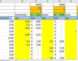 ddecristofolo tarafından Calculation Excel formulas and datasheet connection için no 16