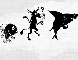 #67 untuk Illustration for T-Shirt: Evolution of a Poker Player (From Whale to Shark to Poker Player Using a Different Animals) oleh cbernardini