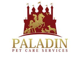 #41 for logo for Paladin Pet Care Services. A Pet Sitting & Dog Walking business. Would like a female knight riding a horse to feature. Must also include a dog, a cat & other pets. Looking for a unique, sophisticated logo with a royal flavour. by flyhy