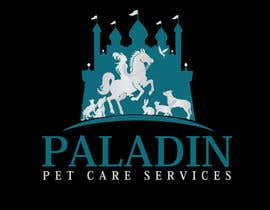 #61 for logo for Paladin Pet Care Services. A Pet Sitting & Dog Walking business. Would like a female knight riding a horse to feature. Must also include a dog, a cat & other pets. Looking for a unique, sophisticated logo with a royal flavour. by flyhy