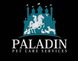 #63 for logo for Paladin Pet Care Services. A Pet Sitting & Dog Walking business. Would like a female knight riding a horse to feature. Must also include a dog, a cat & other pets. Looking for a unique, sophisticated logo with a royal flavour. by flyhy