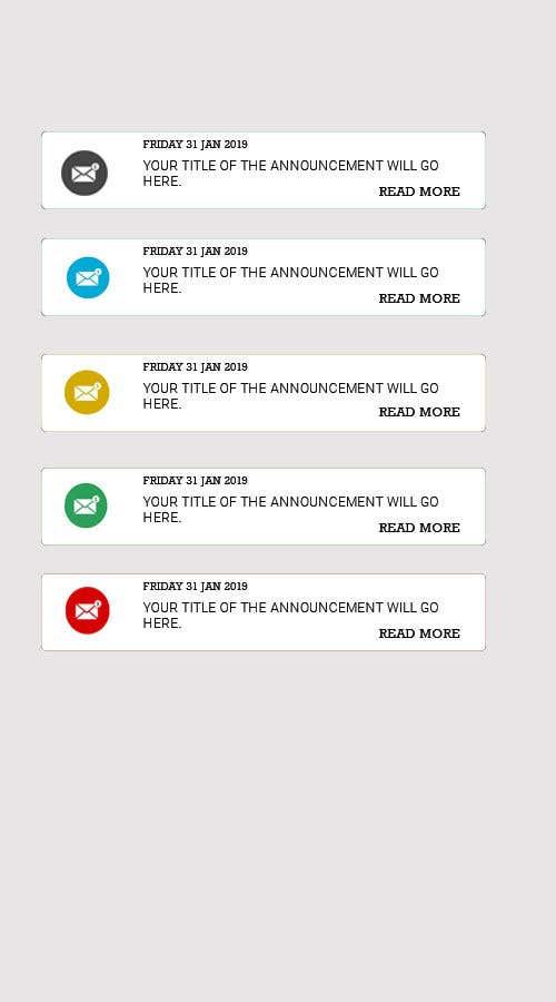 Penyertaan Peraduan #10 untuk Redesign an Announcement List Layout