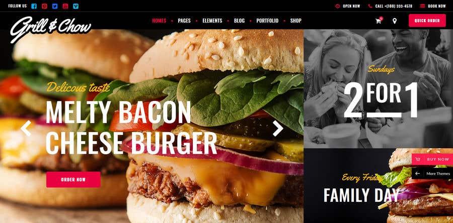 Penyertaan Peraduan #112 untuk Design A Website and Logo For Restaurant