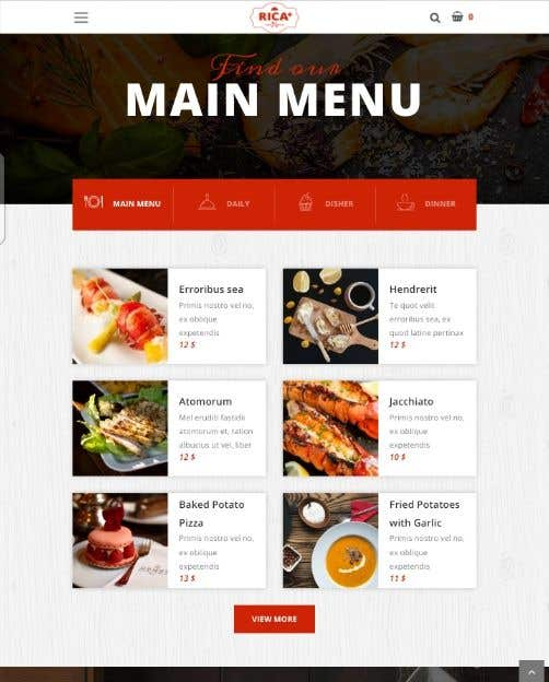 Конкурсная заявка №99 для Design A Website and Logo For Restaurant