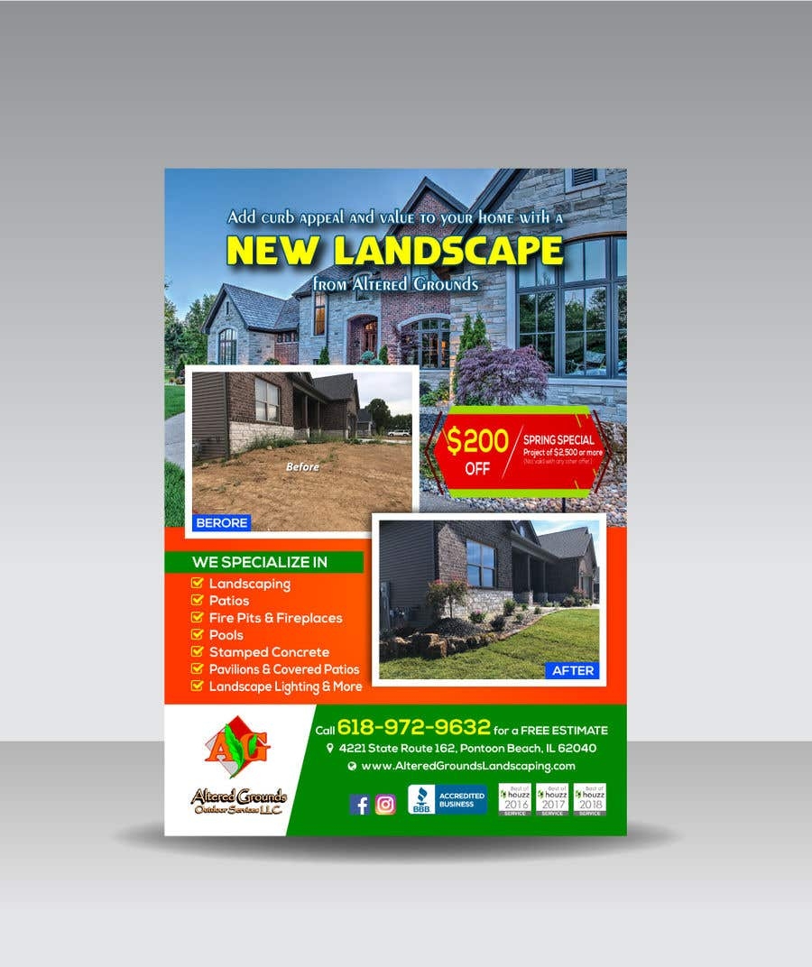 Конкурсная заявка №27 для Design Print Ad For Landscaping Business