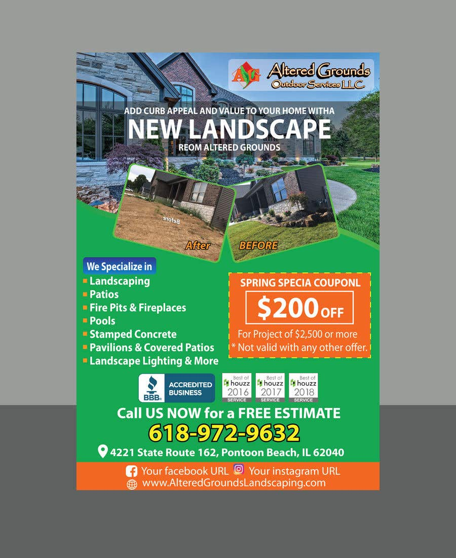 Конкурсная заявка №22 для Design Print Ad For Landscaping Business
