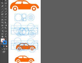 Shehab8056 tarafından Change-design a simply car logo for mobile app using golden ratio. için no 15