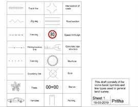 Nro 7 kilpailuun AutoCAD Line styles  & Symbols for Land Survey Company käyttäjältä Prithakush99