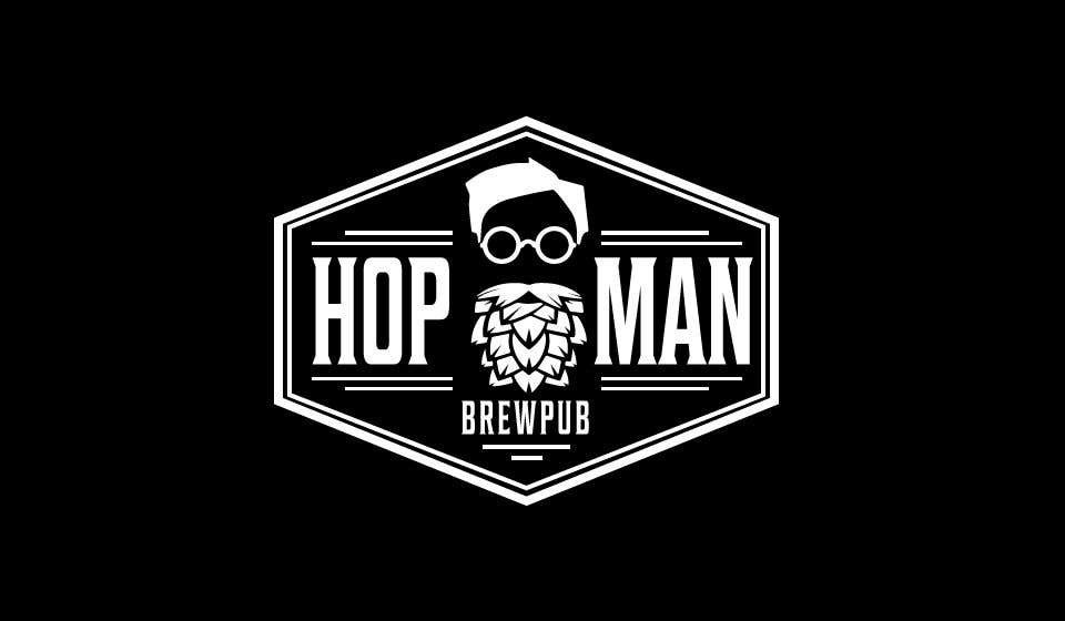 """Intrarea #9 pentru concursul """"As you can see, we have a logo, but we need to change the slogan of it and some words. Instead of Hop Doc  - we want it to be Hop Man. And slogan should be Brewpub. If we will like your style - we will work a lot in the future!"""""""