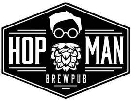 #6 pentru As you can see, we have a logo, but we need to change the slogan of it and some words. Instead of Hop Doc  - we want it to be Hop Man. And slogan should be Brewpub. If we will like your style - we will work a lot in the future! de către PSdesigner280