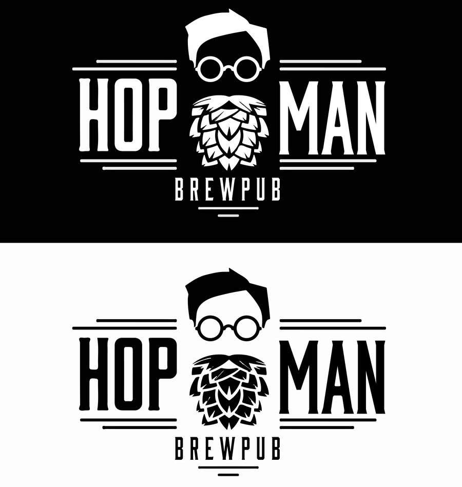 Kilpailutyö #10 kilpailussa As you can see, we have a logo, but we need to change the slogan of it and some words. Instead of Hop Doc  - we want it to be Hop Man. And slogan should be Brewpub. If we will like your style - we will work a lot in the future!