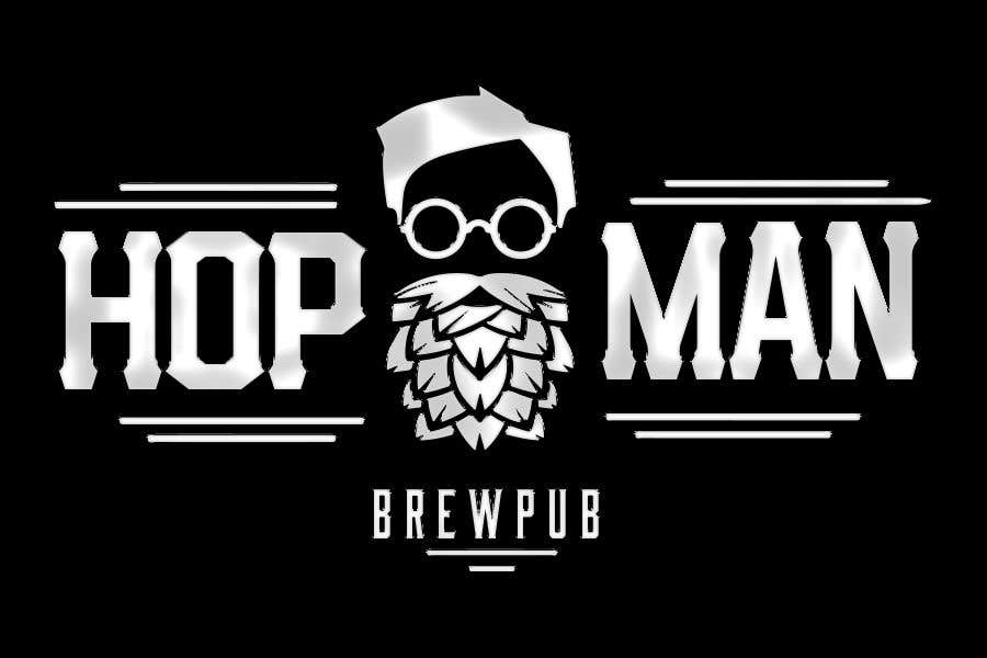 """Intrarea #32 pentru concursul """"As you can see, we have a logo, but we need to change the slogan of it and some words. Instead of Hop Doc  - we want it to be Hop Man. And slogan should be Brewpub. If we will like your style - we will work a lot in the future!"""""""