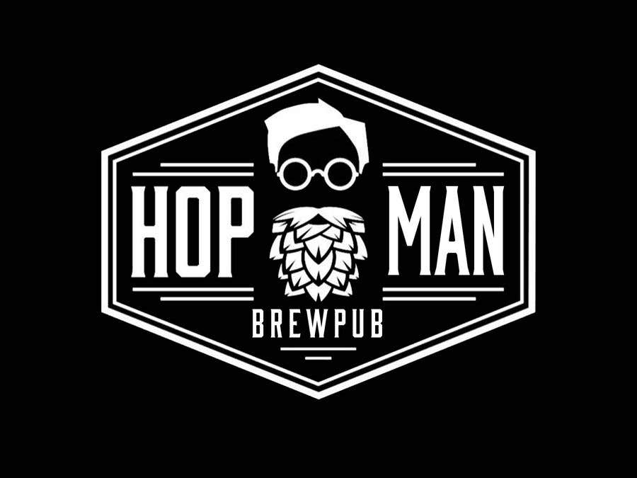 Kilpailutyö #8 kilpailussa As you can see, we have a logo, but we need to change the slogan of it and some words. Instead of Hop Doc  - we want it to be Hop Man. And slogan should be Brewpub. If we will like your style - we will work a lot in the future!