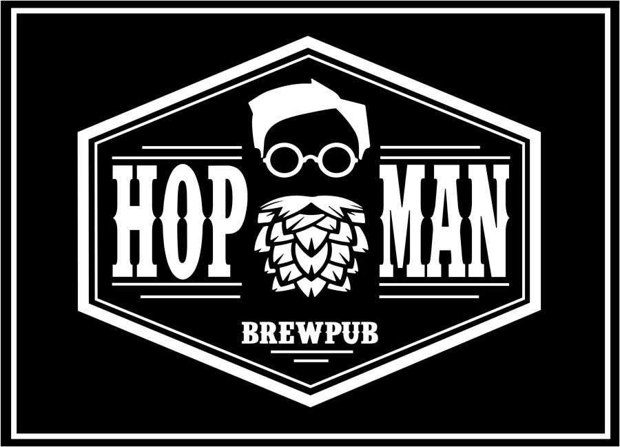"Intrarea #18 pentru concursul ""As you can see, we have a logo, but we need to change the slogan of it and some words. Instead of Hop Doc  - we want it to be Hop Man. And slogan should be Brewpub. If we will like your style - we will work a lot in the future!"""
