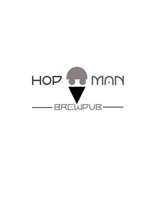 """Intrarea #15 pentru concursul """"As you can see, we have a logo, but we need to change the slogan of it and some words. Instead of Hop Doc  - we want it to be Hop Man. And slogan should be Brewpub. If we will like your style - we will work a lot in the future!"""""""
