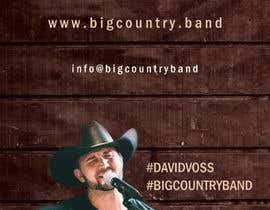 #33 untuk Vertical Banner Signage for Country Band oleh biswasshuvankar2