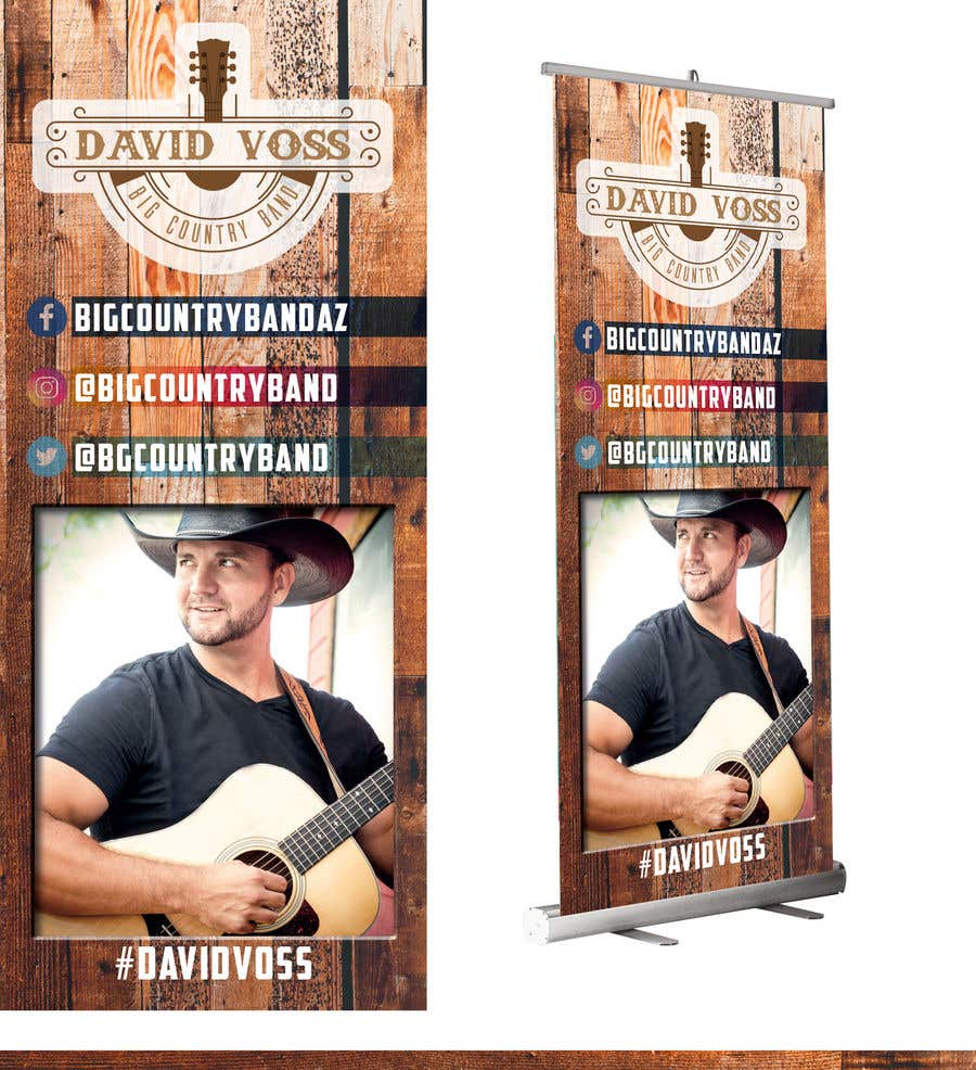 Contest Entry #7 for Vertical Banner Signage for Country Band