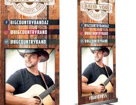 nº 7 pour Vertical Banner Signage for Country Band par b3ast61