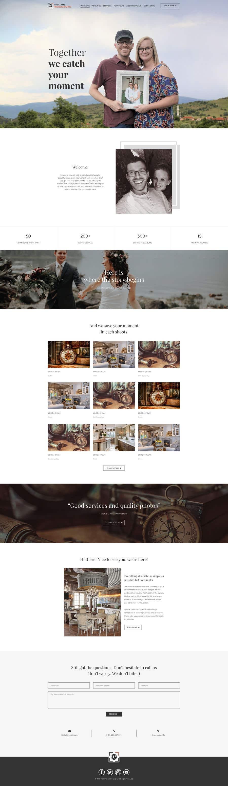 Kilpailutyö #28 kilpailussa Design Clean, Minimalist, Professional Website Layout and Logo