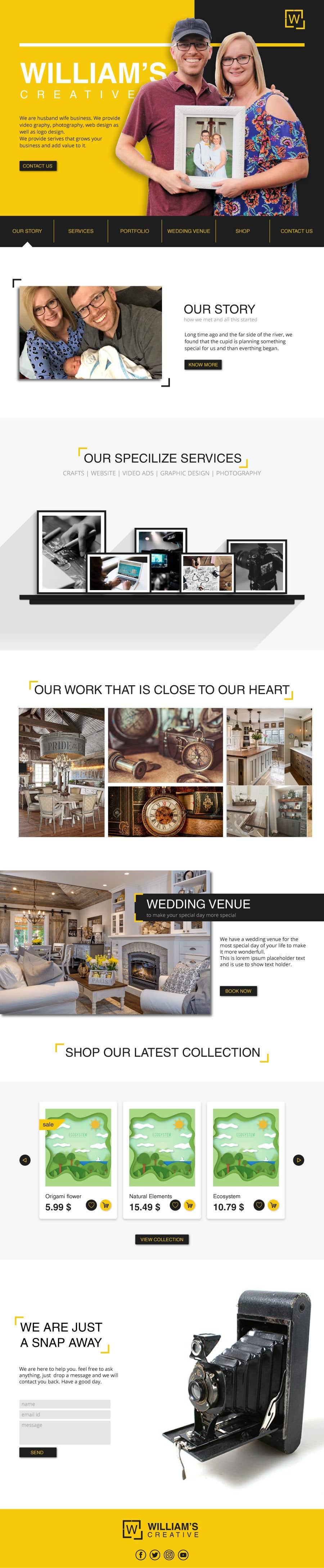 Kilpailutyö #47 kilpailussa Design Clean, Minimalist, Professional Website Layout and Logo