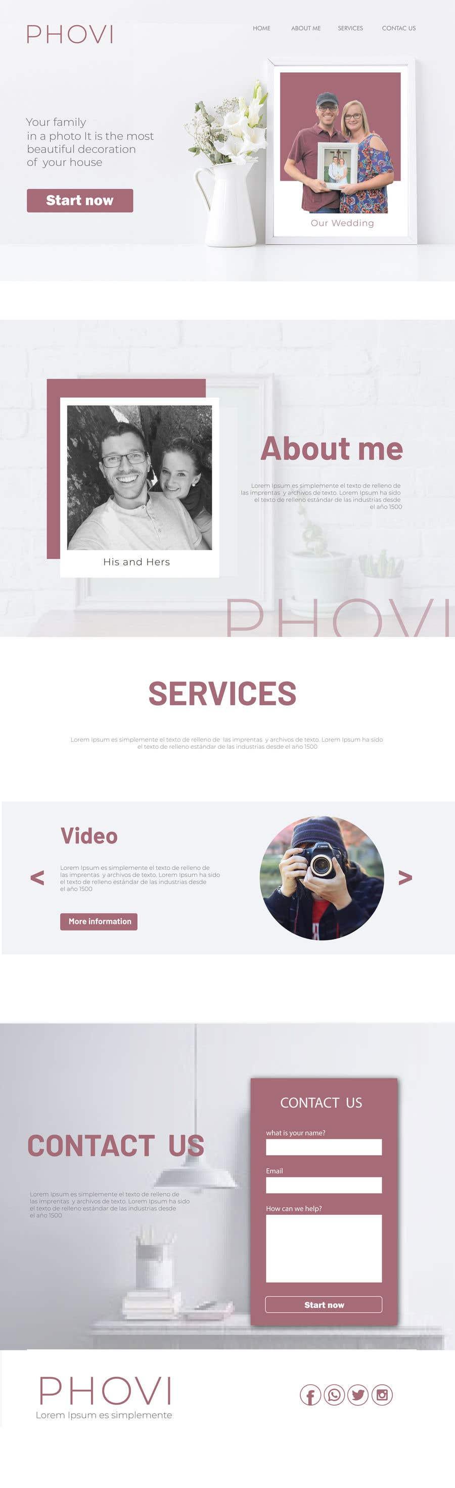 Kilpailutyö #38 kilpailussa Design Clean, Minimalist, Professional Website Layout and Logo