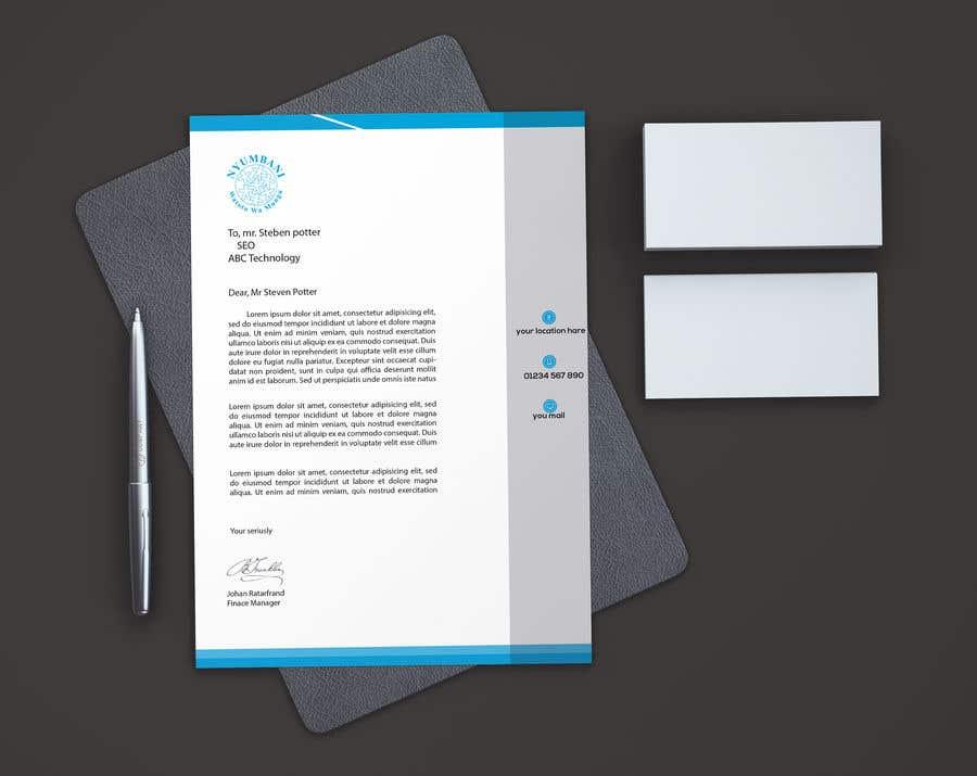 Penyertaan Peraduan #77 untuk design letterhead