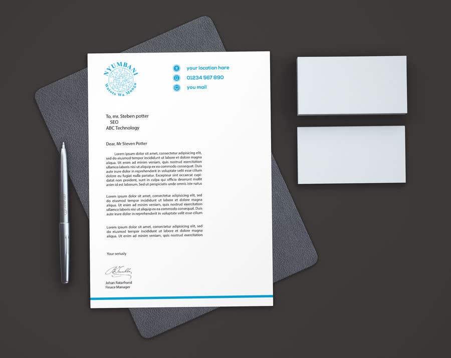 Penyertaan Peraduan #93 untuk design letterhead