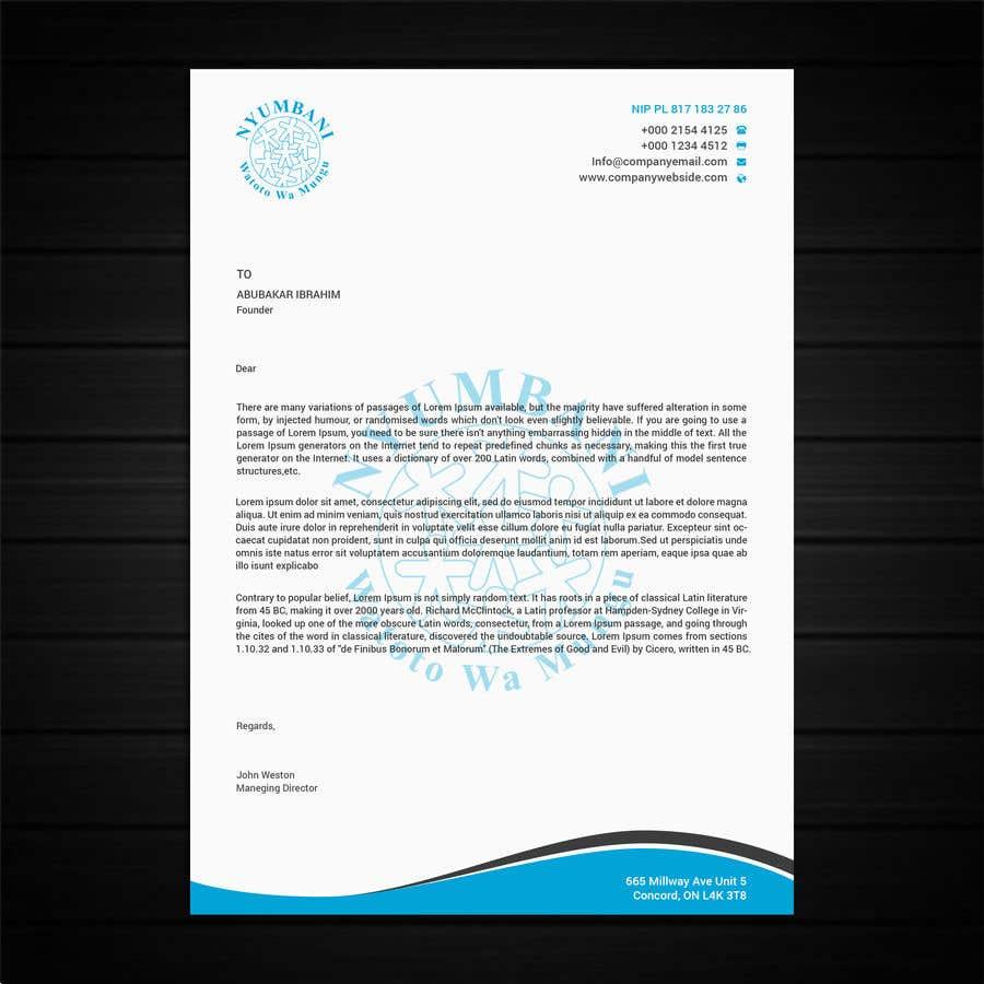 Penyertaan Peraduan #44 untuk design letterhead