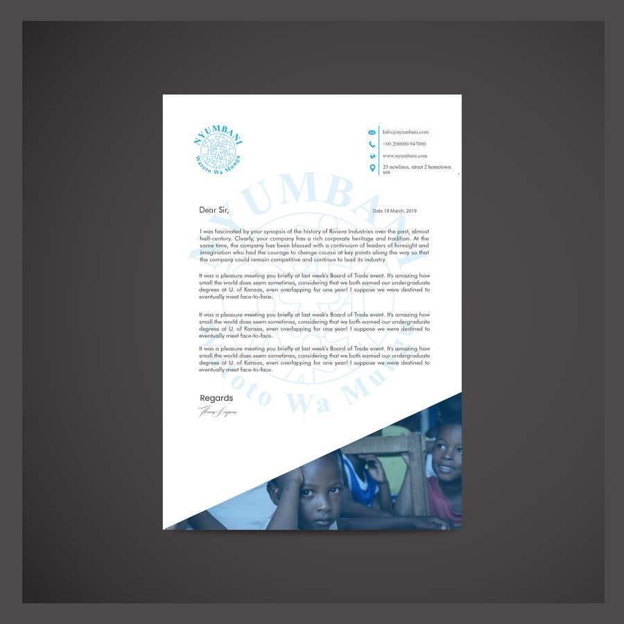 Penyertaan Peraduan #387 untuk design letterhead