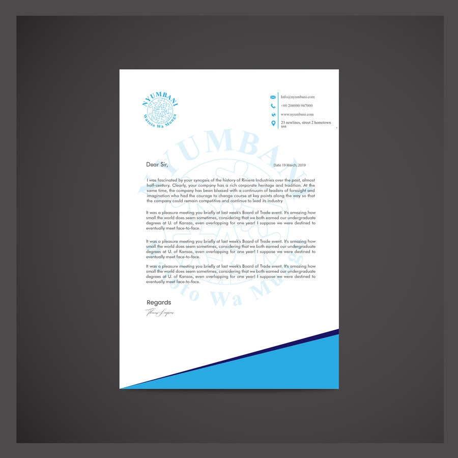 Penyertaan Peraduan #391 untuk design letterhead