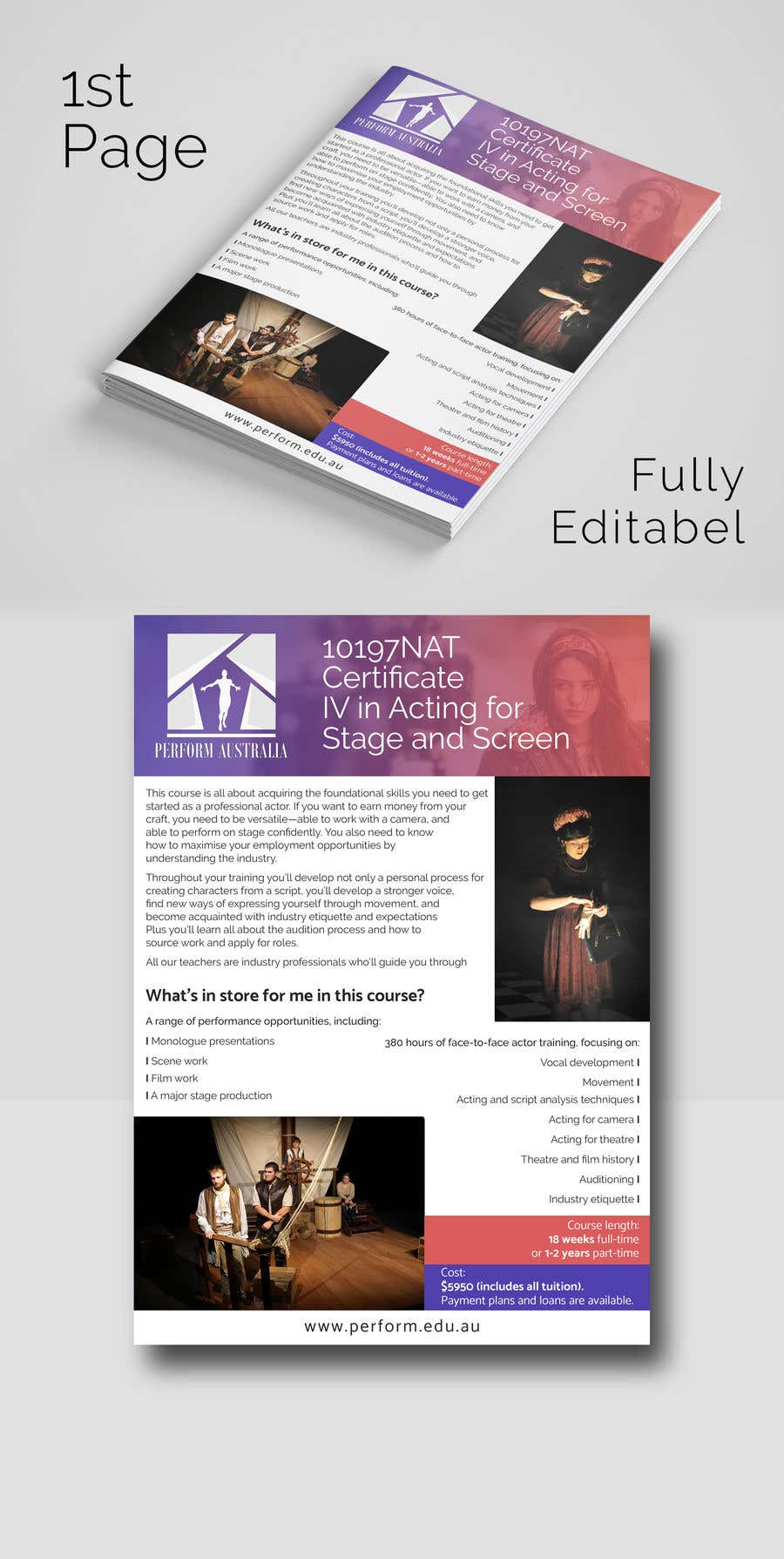Entry #3 by becretive for A4 brochure for performing arts